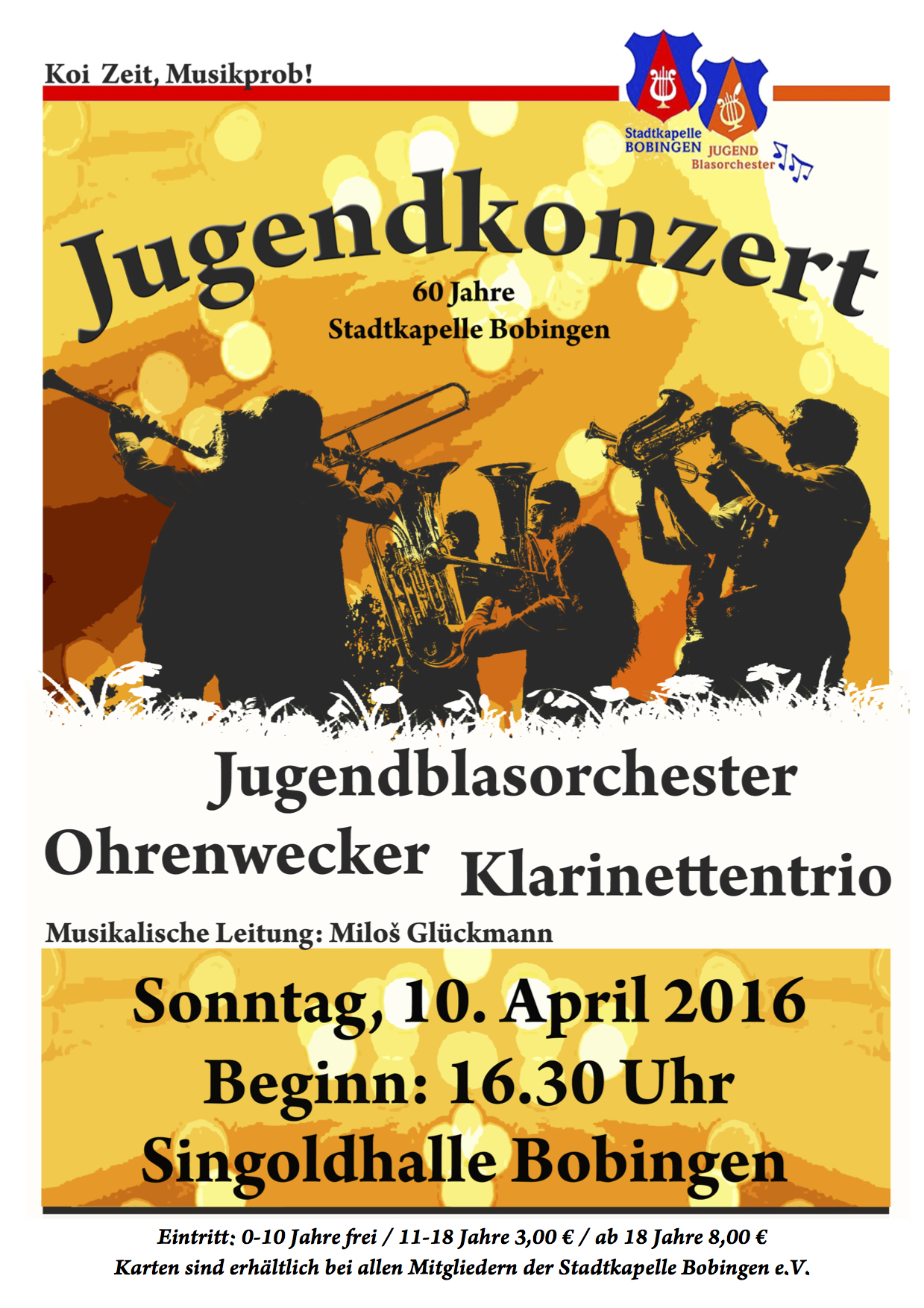 Jugendkonzert am 10. April 2016